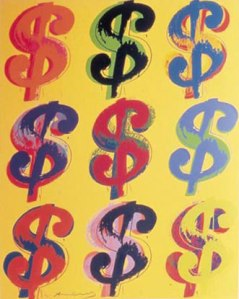 Andy Warhol, Dollar Sign (1982).