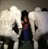 F in the huddle at the Sports Legend Museum in Baltimore