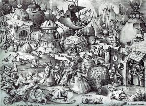 Pieter Bruegel the Elder The Seven Deadly Sins or the Seven Vices - Pride 1558