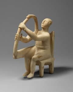 Seated harp player, ca. 2800–2700 B.C.; Early Cycladic I–II The Metropolitan Museum of Art